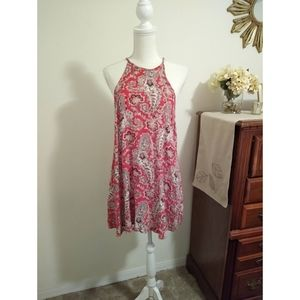 XSP American Eagle red paisley sleeveless dress